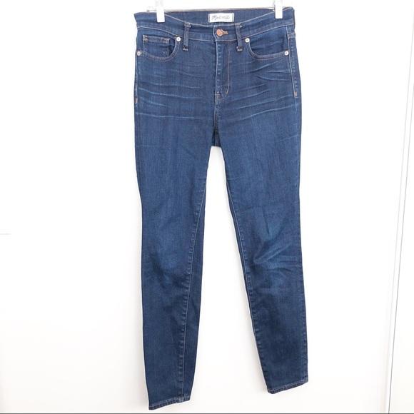 Madewell Blue Denim High Riser Skinny Jeans